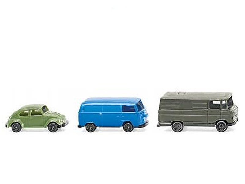 Wiking VW Käfer , VW T2 , MB 508 D Spur N 1:160