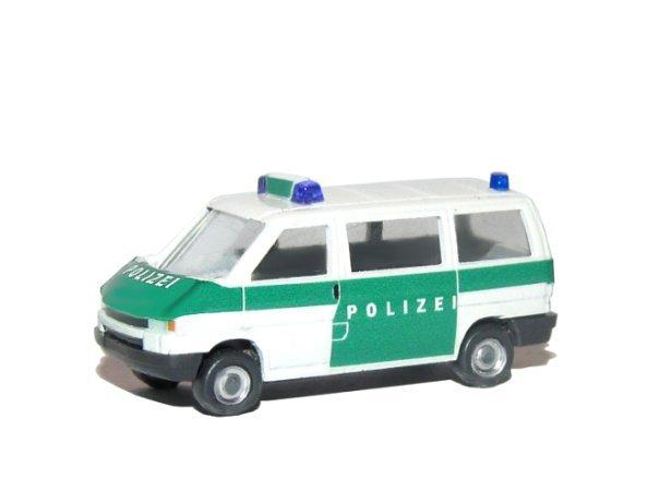 handarbeitsmodell auftragsarbeit wiking modell polizei bus t4 gr n. Black Bedroom Furniture Sets. Home Design Ideas