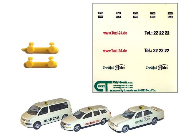Taxi Umrüst - Kit  Decal + 4 Schilder