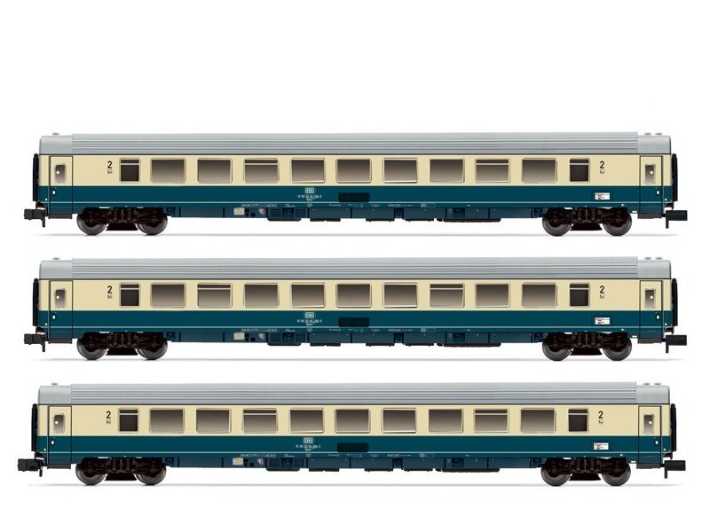 Arnold 3-teiliges Wagenset Intercity DB 2. Klasse  HN4201