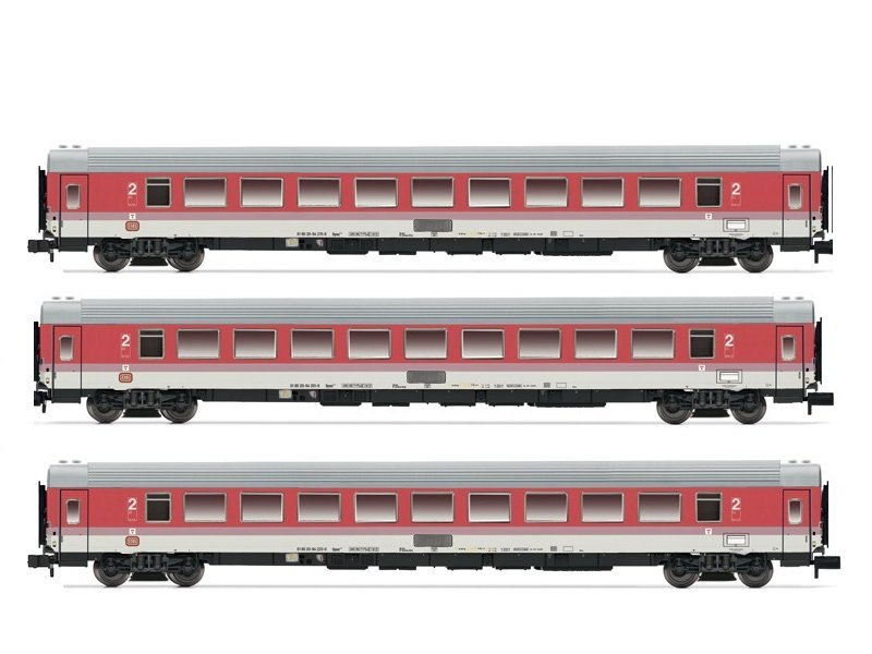 Arnold 3-teiliges Wagenset Intercity DB 2. Klasse  HN4202
